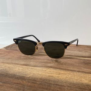 Ray-Ban Black/Gold Clubmaster Sunglasses RB3016